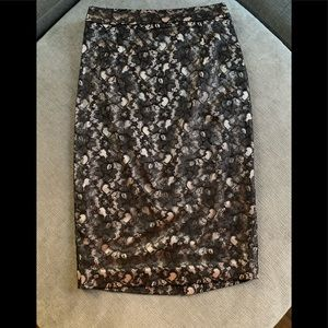 NWT Ted Baker of London lace derail pencil skirt